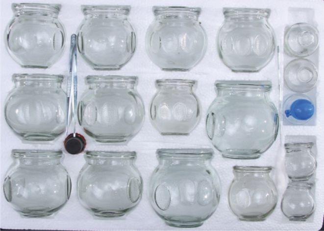 Vacuum Cupping Set of 16 - Glass  - CL1
