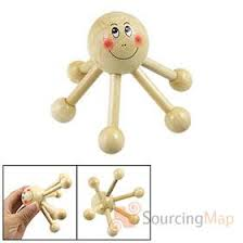 Kekara Massager - Octopus 6 Legs - Wooden  - HSP